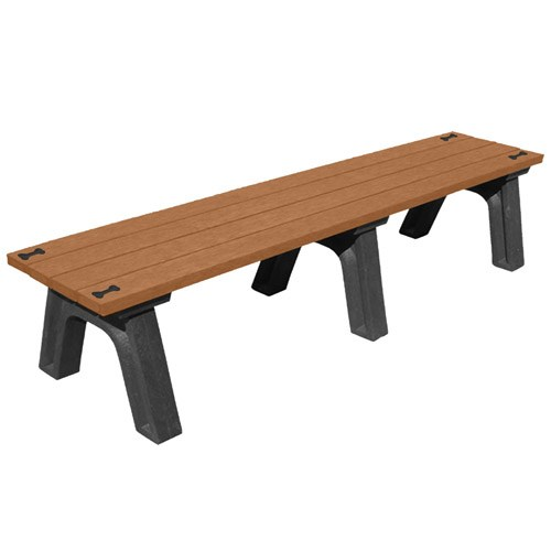 View DOGIPARK® 6' Flat Poly Bench ( 7712-BC-BONES )