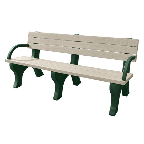 View DOGIPARK® 6' Backed Poly Bench with Arms ( 7713-GS )