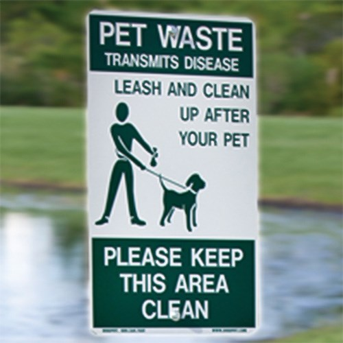 "View DOGIPOT® Pet Sign ""On Leash"""