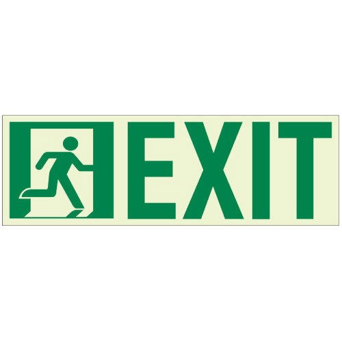 View ROE3312 Door Mounted Luminous Exit Sign