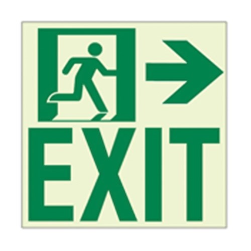 View RAE2122 Luminous Intermediate Door Exit Sign