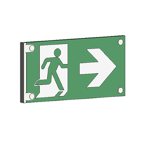 View RM Architectural Series Exit Signs: 50 Ft. Rated Visibility