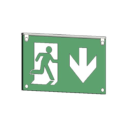 View RM Architectural Series Exit Signs: 75 Ft. Rated Visibility