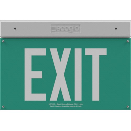 View EXH Series Hybrid LED / Luminous Exit Signs: 75 Ft. Rated Visibility