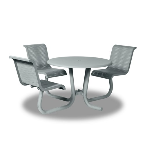 "View Portage 42"" round ADA table - 3 chairs"