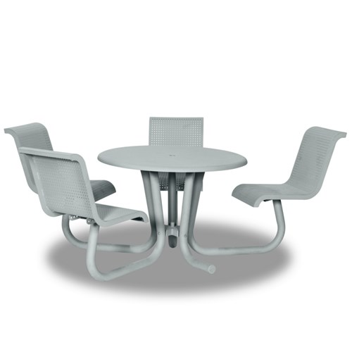 "View Portage 42"" round table - 4 chairs"