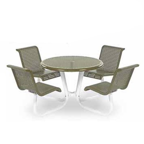 "View Camino 42"" round table with 4 chairs"