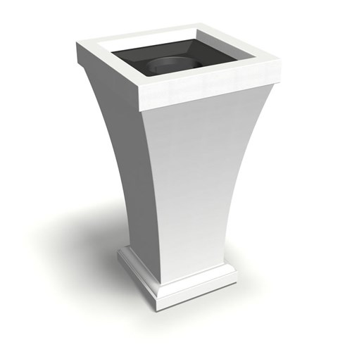 "View Bordeaux 40"" Tall Waste Bin"