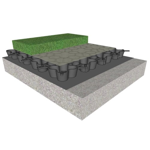 View Green Roof Drainage for Natural and Synthetic Turf